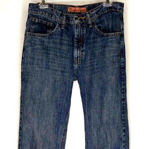 Lee Dungarees Mens Bootcut Jeans Blue 32x31